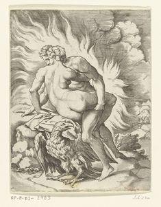 Jupiter en Aegina, Cornelis Bos, Michiel Coxie (I), c. 1537 - c. 1555