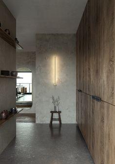 Wabi Sabi, Japanese Interior, Minimalist Interior, Decoration, Behance, Aging Process, Cherry Blossoms, Contemporary Design, Kitchen Design