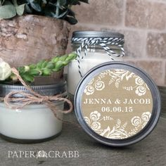 Soy Candle Wedding or Shower Favors