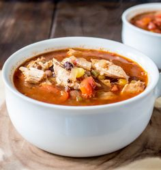 Healthy Mexican Chicken Soup with Chipotle-Lime Crema