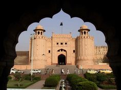 The gates into the old city of Lahore, Pakistan
