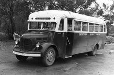 old shot of Melbourne bonneted bus