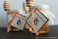 Honey wedding favors | Directions Not Included | DIY honey jar wedding favors