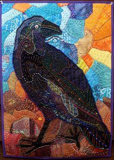 Joseph Muehlbauer crow mini quilt. 18 x 23 Absolutely fabulous!