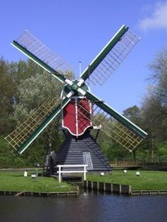 Netherlands Windmills, Holland Windmills, Throughout The World, Around The Worlds, Tilting At Windmills, Water Wheels, Wind Mills, Map Pictures, 10 Picture