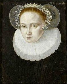 Circle of Francois Clouet, Portrait of a noble lady,16th century