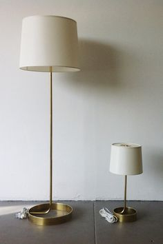 Forge Floor Lamp - Burnished Brass