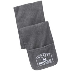 Poodle - Property Of A Poodle - Fleece Scarf with Pockets