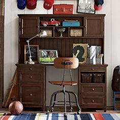 Beadboard Smart Desk + Hutch #pbteen