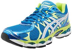 ASICS Mens GelNimbus 16 Running ShoeIsland BlueLightningLime95 M US -- You can get additional details at the image link.(This is an Amazon affiliate link and I receive a commission for the sales)