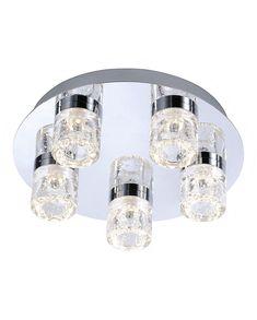 The Paul Neuhaus Bilan 5 light ceiling bathroom fitting has a modern style and…