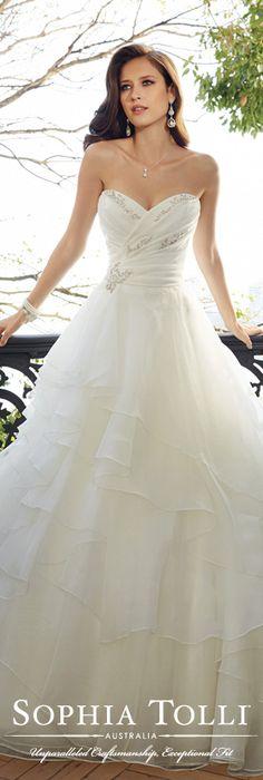 The Sophia Tolli Spring 2015 Wedding Dress Collection - Style No. Y11565 Egret www.sophiatolli.com #weddingdresses