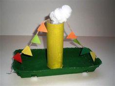 Knutselen Stoomboot van de Sint