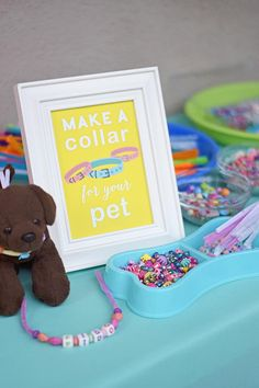 puppy adoption birthday party for kids / puppy adoption birthday party . puppy adoption birthday party for kids . Party Animals, Animal Party, Kitty Party, Puppy Birthday Parties, Happy Birthday, Home Birthday Party Ideas, Sleepover Party, Girls Birthday Party Themes, Crafts For Birthday Parties