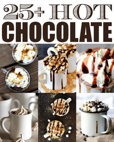 thecakebar:  25 Hot Chocolate Recipes! Pumpkin Spice White Hot Chocolate / Tatertots and Jello S'mores Hot Chocolate / Minimalist Baker Cook...