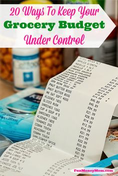20 Ways to Keep Your Grocery Budget Under Control- great tips to use to see significant savings on your grocery bill.  Whether you use coupons or not, these tips will provide savings for you!