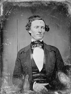 A daguerrotype of Texas ranger captain Samuel Hamilton Walker, 1846. He is probably best known as the co-inventor, along with Samuel Colt, of the famous Walker Colt revolver.