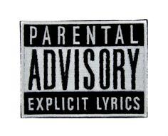 Parental Advisory Explicit Lyrics Patch Iron on Applique Alternative Clothing