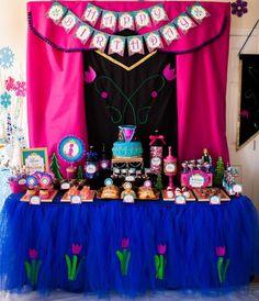 AnnaTulle Skirt, Anna Party, Frozen, Elsa, Frozen Party, Frozen decorations, by PoppysmicBowtique, $78.00