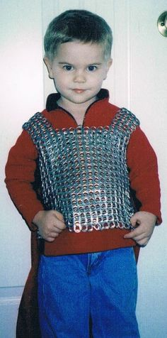 soda tabs armor. maybe if i start saving now I can have enough for ben in 2 years....or start drinking soda cans!!!