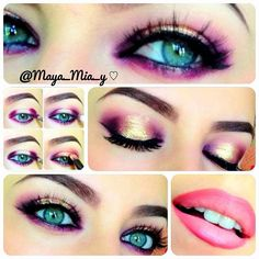 Gorgeous Eye Makeup Looks For Fall Gold Eye Makeup, Love Makeup, Makeup Tips, Makeup Looks, Makeup Tutorials, Amazing Makeup, Maquillage Smoky Eye, Mascara, Eyeliner