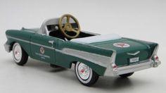1957-Chevy-Pedal-Car-Vintage-Sport-Hot-Rod-Midget-Metal-Show-Model-1955