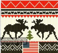 Those expensive Olympic Hats - Pattern Central - KnittingHelp Forum Community Stocking Pattern, Mittens Pattern, Tree Patterns, Loom Patterns, Knitting Charts, Knitting Patterns, Cross Stitch Stocking, Knit Stockings, Flag Patches