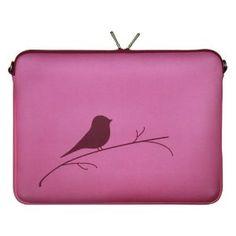 "DIGITTRADE LS122-13 Designer Notebook Macbook Sleeve 13.3"" Laptop Cover Pink Neoprene Soft Carry Case up to 13.3 Inch Anti Shock System"