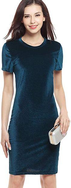 """Nice dress with a slight sexy feel for an evening out  Kurzarm,Einfarbig und modisch. Material:Polyester Kurzarm Modellnummer: RR-SRYLQ+Blue+S Dieses Kleidungsstück eignet sich für legere oder formelle Anlässe. Bitte überprüfen Sie Ihre Größe und beziehen Sie sich auf unsere Größentabelle(Nicht Amazon Größe). Unsere Marke """"OMZIN."""" wurde von EUIPO in der EU registriert. Es ist durch Gesetze in den EU geschützt. Bitte versuchen Sie nicht, unser Recht zu verletzen, da sonst rechtliche Schritte… Short Sleeve Dresses, Dresses With Sleeves, Arm, Fashion, Casual Dressy, Gown Dress, Blouse, Scale Model, Women's"""