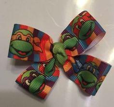"Ninja Turtle Hair Bow 2"" Plus Apple Green Center Piece | eBay"