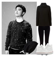 """EXO SING FOR YOU D.O"" by jessy-693 ❤ liked on Polyvore featuring River Island, Halogen, Theory and Converse"