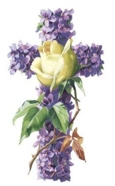 free cross with flowers | VintageFeedsacks: Free Vintage Clip Art - Vintage Flower Cross