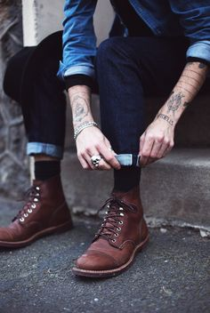 Secrets travel fast in Paris. Raw denim. Selvedge Jeans.  Boots. Mens Fashion.
