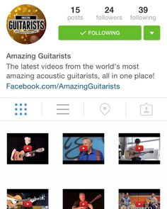 Heads up guitar heads @amazingguitarists is now on Instagram. What's it about? Brand new videos from the world's most amazing acoustic guitarists all in one place!  Want to know the moment there is a new video out by crazy freaky #amazingguitarists like @tommyemmanuelcgp @igorpresnyakovofficial Candyrat Records @theofficialsunghajung @jongomm ?  Follow @amazingguitarists !
