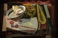 Robert MacBryde (Scotland Still Life, oil/canvas, Glasgow Museums Resource Centre, Glasgow, Scotland. Painting Still Life, Still Life Art, Glasgow Museum, Art Uk, Your Paintings, Art Boards, Be Still, Oil On Canvas, Ellis Island