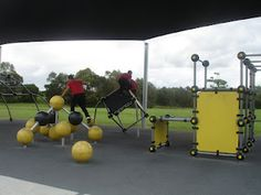 A Parkour friendly playground design at the Riverdale Park in Logan, Queensland, Australia. ... very purposeful design for Intergenerational Play