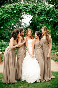 Neutral fall bridesmaid dresses