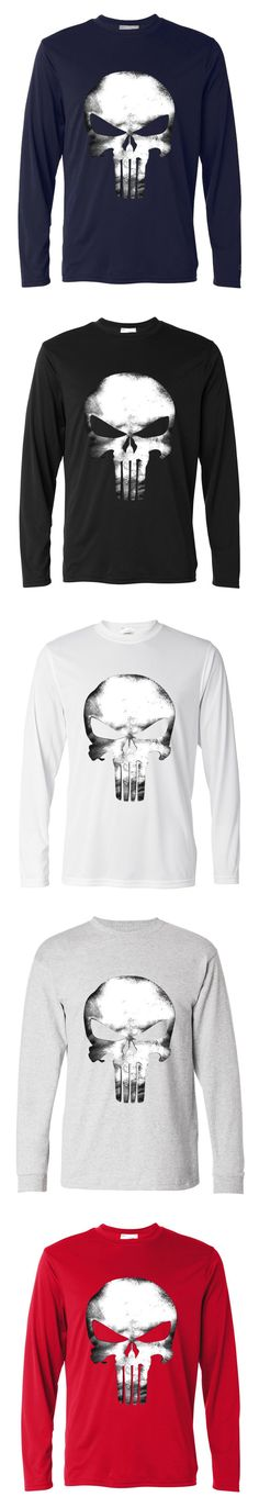 2017 autumn new fashion t shirt male mma the punisher men long sleeve cool skull tops t shirts streetwear cotton casual hipster