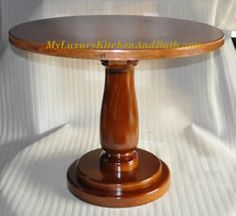 Wooden Pedestal Table Base for Coffee Tables, Dining Table, etc (Multiple Sizes)
