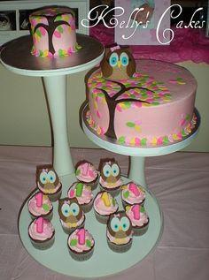 Owl Cakes and C #yummy cake #Cake recipe