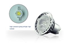 Gu10 #Led Lights : 3x1W GU10 Dimmable Spotlight Lamp (35W Replacement)