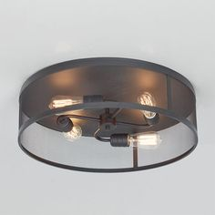 "Vintage Mix Cage Ceiling Light - 21"""