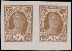 Soviet Union 1927, worker 10k brown, bottom margin horizontal imperforated pair, perfect and flawless item, full OG, NH, VF and rare, especially in pair ...