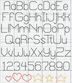 cross stitch letter patterns backstitch - Google Search