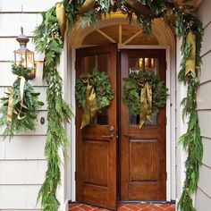 Whether ambitiously extravagant or spare and refined, fresh garland and wreaths have always been classic hallmarks of Christmas.
