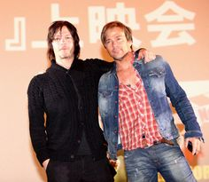 Norman Reedus and Sean Patrick Flanery in Japan