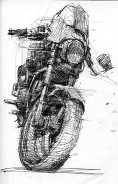 motorcycle art Scribble Art To Make Your Home And Office Look Awesome - Bored Art Art And Illustration, Motorcycle Art, Bike Art, Art Moto, Drawing Sketches, Art Drawings, Sketches Of Eyes, Sketch Art, Bike Sketch