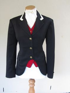 Navy cut-away jacket