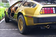 The-Car-Addict.com: Golden DeLorean DMC-12 (Back to the Future) at Lake of Constance http://www.the-car-addict.com/2011/06/golden-delorean-part-1.html