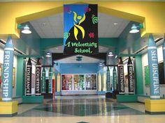 A welcoming school lobby!
